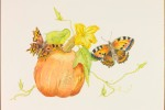 Pumpkin with two Butterflies 35