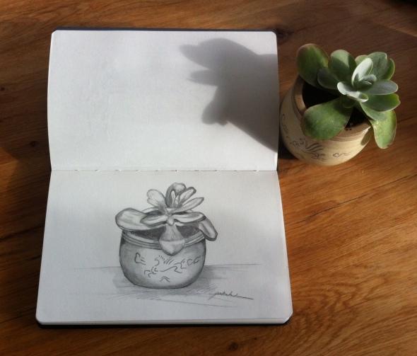 Sketch Succulent Paula Kuitenbrouwer
