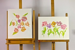 Drawings on Gesso Boards by Paula Kuitenbrouwer