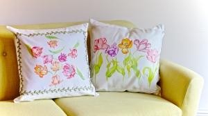 Tulip Pillows by Paula Kuitenbrouwer