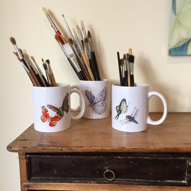 Studio Pencils in Mugs