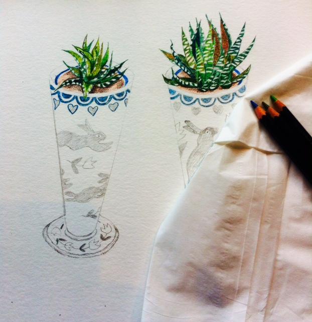 WIP Rabbit Vases
