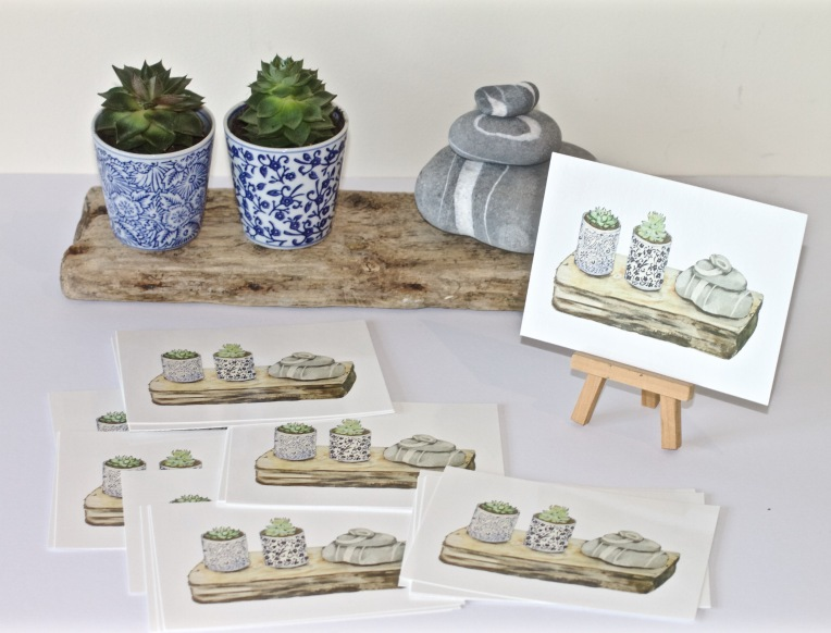 Stillife with postcards
