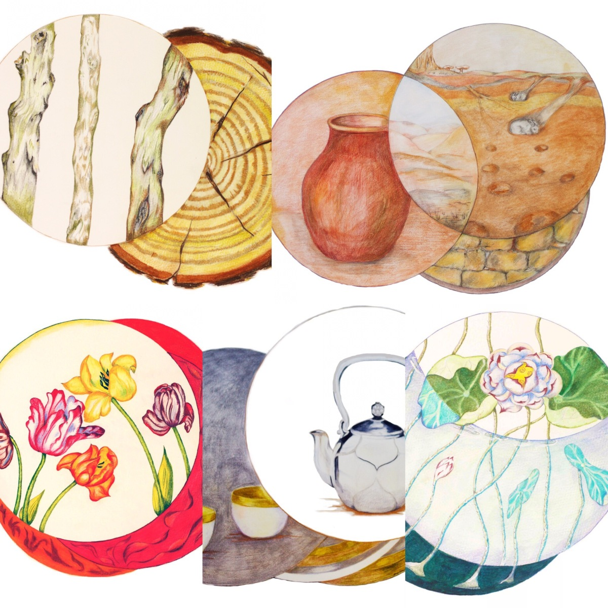 Feng Shui Elements artistically interpreted by Paula Kuitenbrouwer