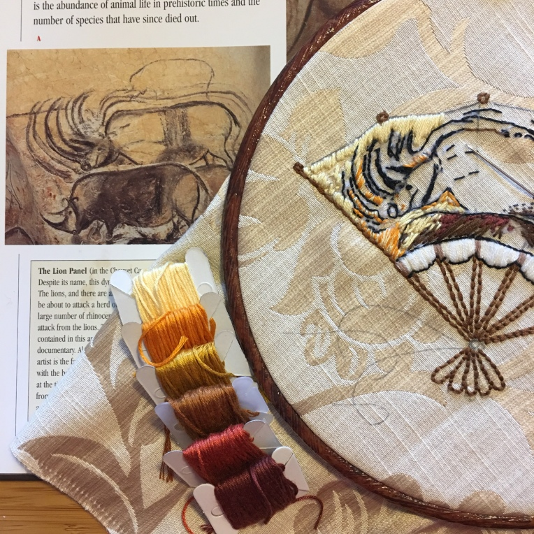 Rhinoceros Embroidery