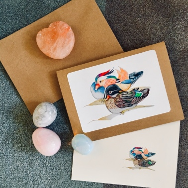 Mandarin Duck Cards by Paula Kuitenbrouwer