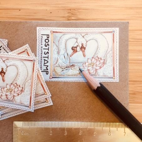 Postal Stamp design by Paula Kuitenbrouwer