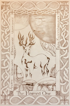 Stag Drawing copyright Paula Kuitenbrouwer