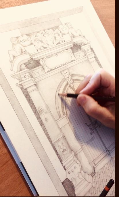 Bruntenhof Gate drawing Paula Kuitenbrouwer