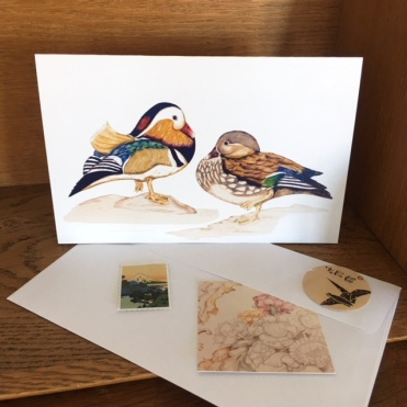 Marvellous Mandarin Ducks art card